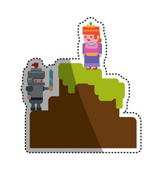 Pixelated scenery videogame vector