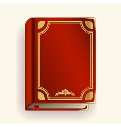 red leather book vector image