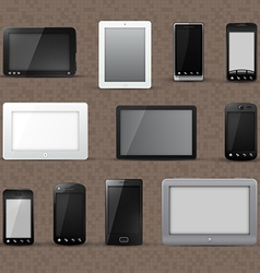 Modern phone and tablet icons vector