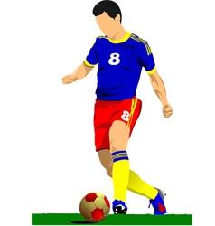 al 0919 soccer01 vector image