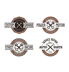 Auto Emblems vector image