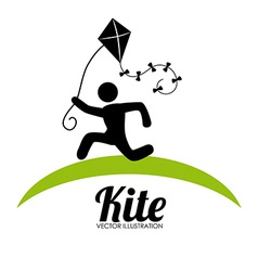 Kite design over white background vector