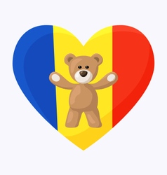 Romanian teddy bears vector