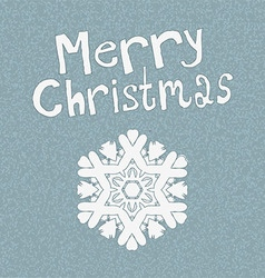 Vintage snowflake on a blue background Christmas vector image
