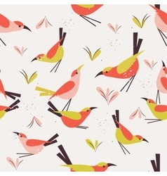 Seamless pattern bird vector
