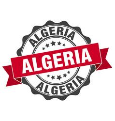 Algeria round ribbon seal vector