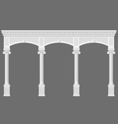 Antique white arcade vector