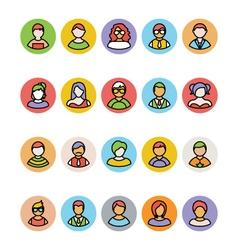 Avatar icons 2 vector