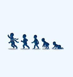 baby running steps graphic vector image vector image