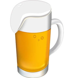 Beer glass on a white background vector image