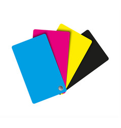 cmyk palette abstract sheets of paper in cmyk vector image