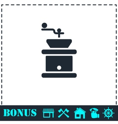 Coffee grinder icon flat vector