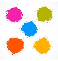 Colorful Stains Blots Splashes Set vector image vector image