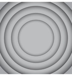 Concentric grey 6 circle grey background vector