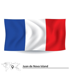 Flag of juan de nova island vector