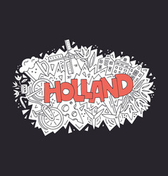 holland concept vector image