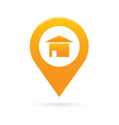 Home house map pointer icon marker gps location vector