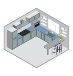 Isometric kitchen design vector