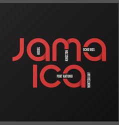 jamaica t-shirt and apparel design vector image