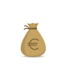 money bag with euro sign vector image vector image