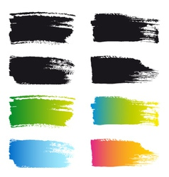 paint brush stroke frames set vector image vector image