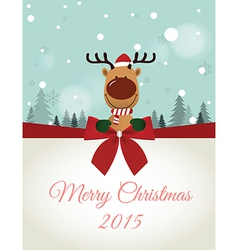 Reindeer holding Board vector image vector image