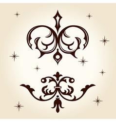 retro ornament calligraph vector image vector image