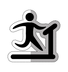 runner athlete silhouette icon vector image vector image