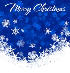 Snowflakes Chrismas Card Blue 2 A vector image