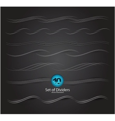 web divider set vector image