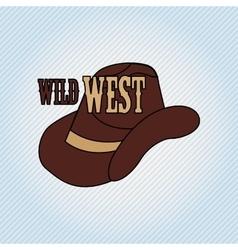 wild west icon design vector image vector image