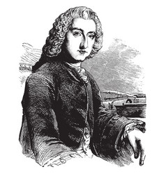 William pitt earl of chatham vintage vector