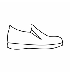 Shoes icon outline style vector