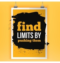 Fnds limits by pushing them inspirational vector