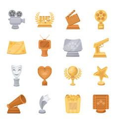Camera shout globe objects for rewarding films vector