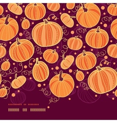 Thanksgiving pumpkins horizontal border seamless vector
