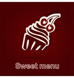 Template of a sweet menu vector image