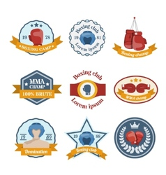 Boxing label set vector