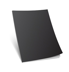 Blank standing black magazine cover vector