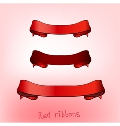 Ribbon banner red b vector