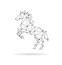 Geometric horse design silhouette vector image