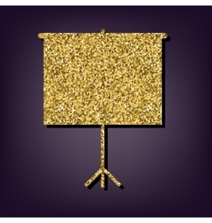 Golden style icon on perple background vector