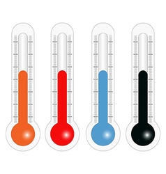 Thermometers in different colors in vector