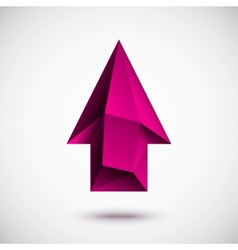 3d magenta up arrow vector image