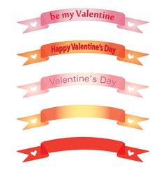Banners for day of valentine vector