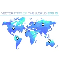 Map of the world with polygonal background vector image