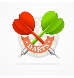 Darts sign vector