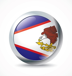 American samoa flag button vector