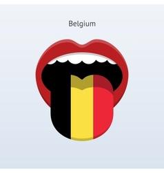 Belgium language abstract human tongue vector