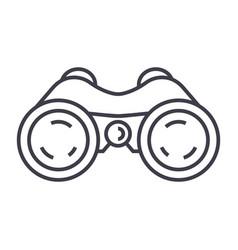 Binocularsperiscopevision line icon sign vector
